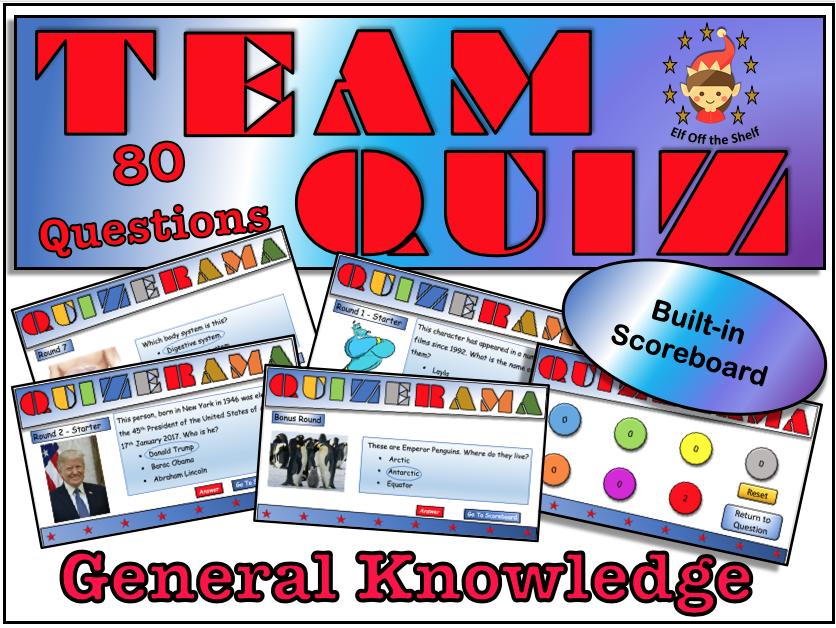 End of Year General Knowledge Quiz 2019 KS3