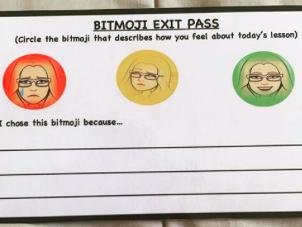Bitmoji exit pass