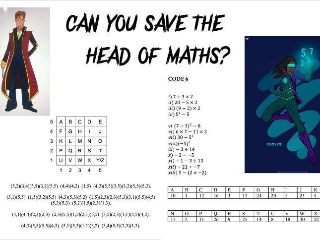 Maths Online Escape Room - INTERMEDIATE - Lockdown Family Problem Solving