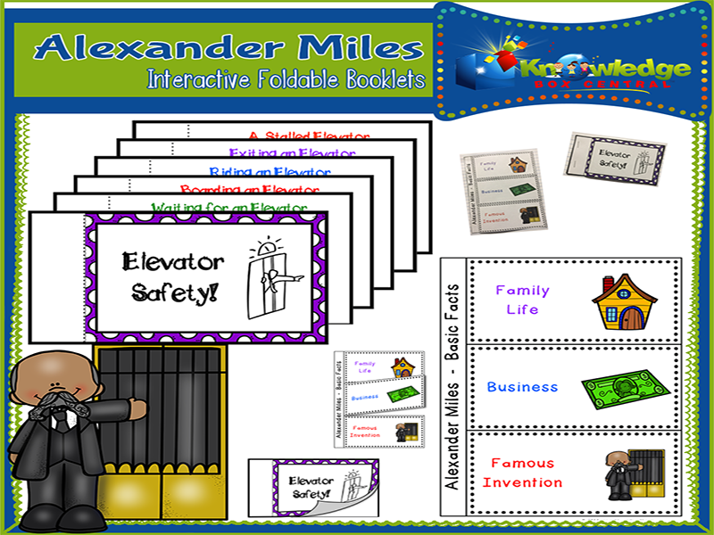 Alexander Miles Black History Interactive Foldable Booklets