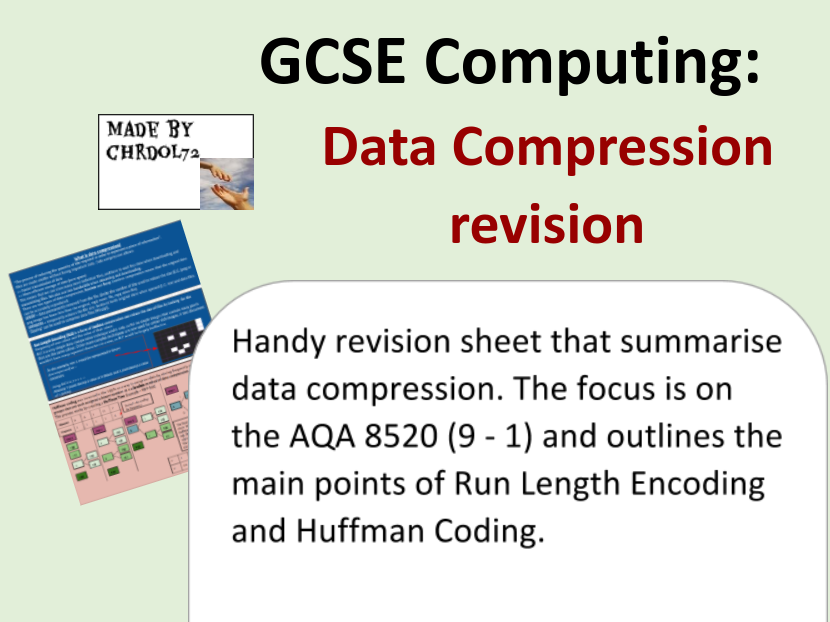 GCSE Computing Revision: Data Compression