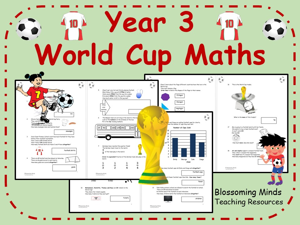 Year 3 World Cup 2018 Maths - All Topics - Differentiated Levels