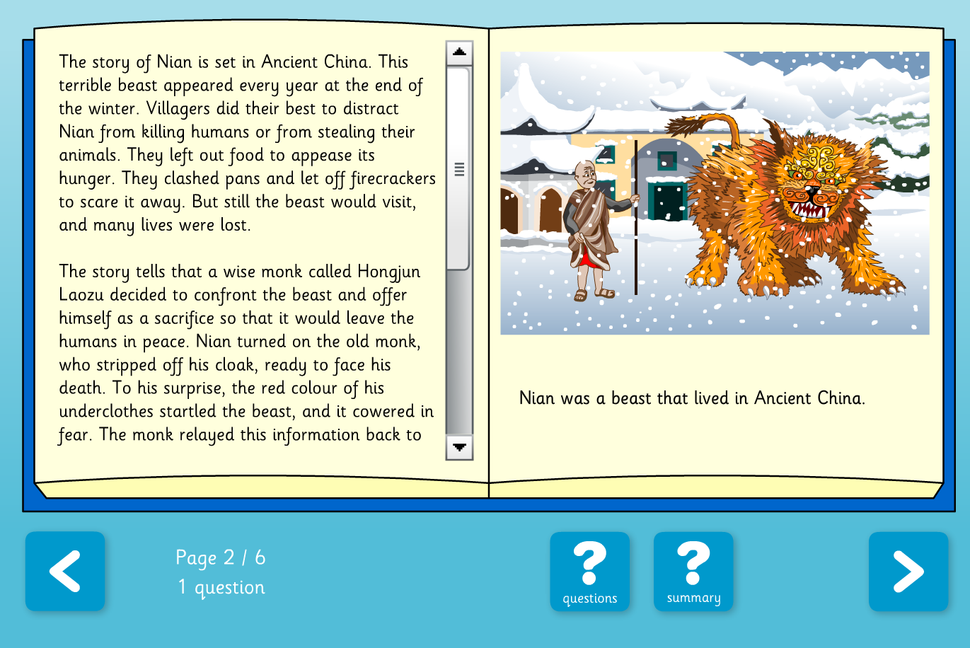 Interactive Information Book - Dragons, Beasts and Monsters - KS2 Literacy