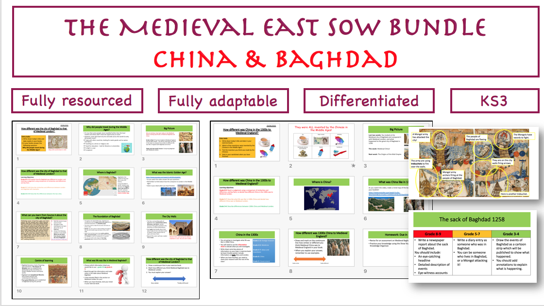 The Medieval East SoW: China and Baghdad