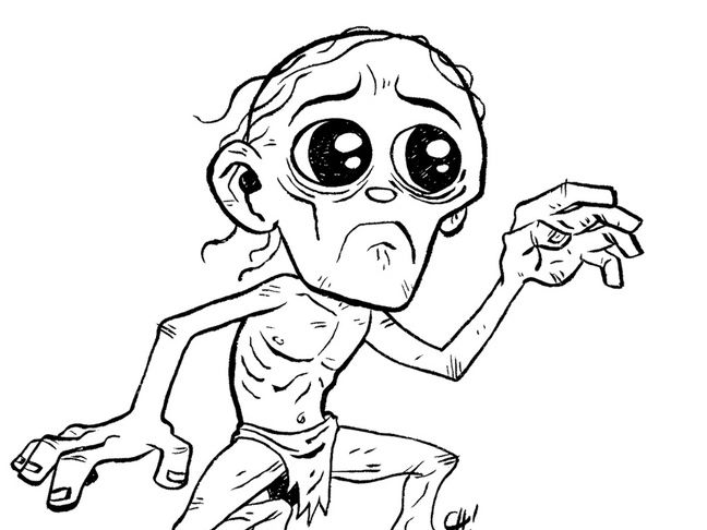 Personality of a Character: Gollum /  The Hobbit / Character Description