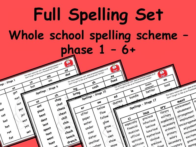 Spelling Scheme KS1 - KS2