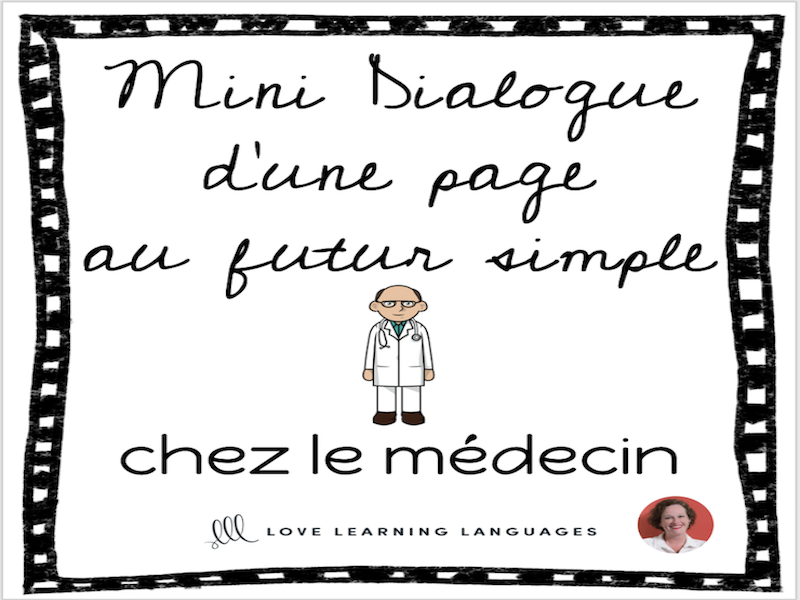 French skit about doctors - Mini-dialogue au futur simple - Chez le médecin