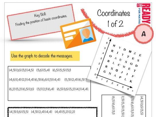 Basic Coordinates Worksheet (1 of 2)