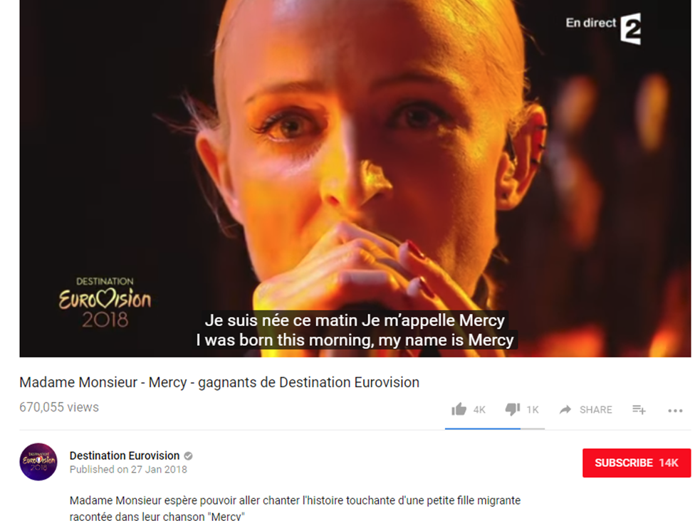 MERCY - French Eurovision Song 2018 and the Story Behind It