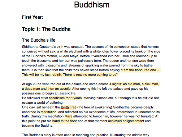 OCR Alevel Religious Studies Buddhism 2018 New A-level Full detailed notes