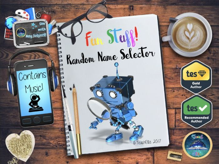 Random Name Selector - Interactive with space for 10 classes!