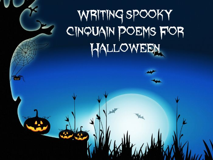 Halloween -  Writing Spooky Cinquain Poems  - PowerPoint Lesson