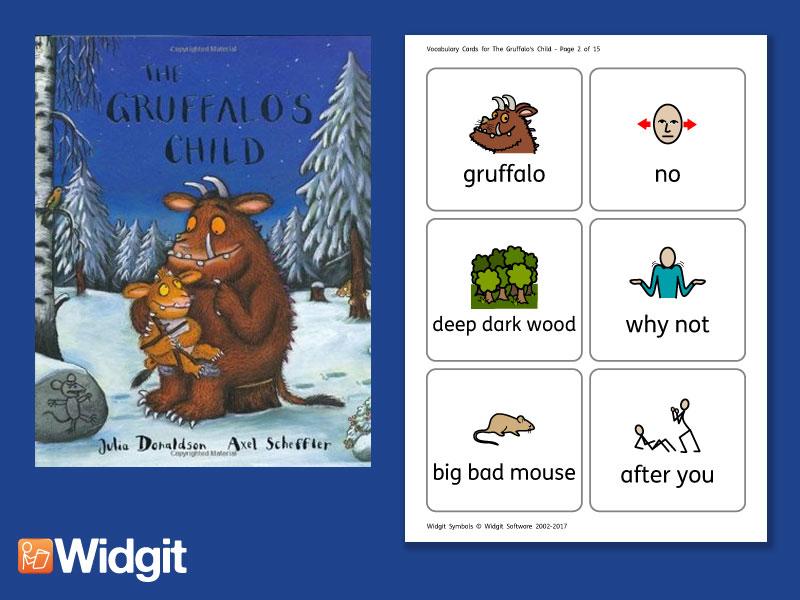 The Gruffalo's Child - Big Book Flashcards with Widgit Symbols