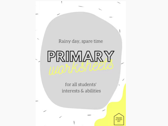 Rainy Day, Spare Time - 50 Primary School Worksheets - For All Students' Interests & Abilities