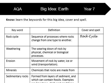 AQA KS3 Science Glossaries Part 1 (Year 7)