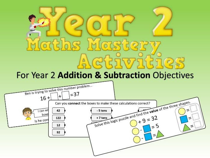 Addition and Subtraction Mastery Activities – Year 2