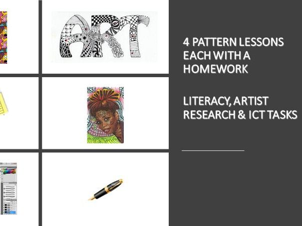 PATTERN Introduction - 4 lessons suitable for KS2 or KS3