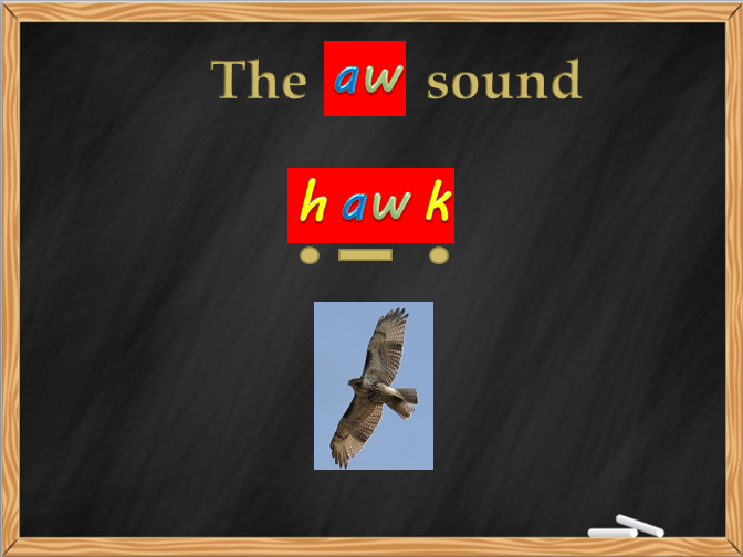 AW letters and sounds Phase 5