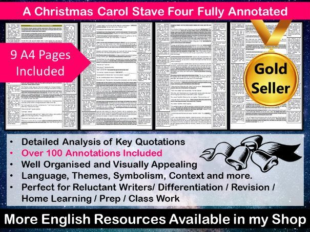 A Christmas Carol Stave Four Fully Annotated