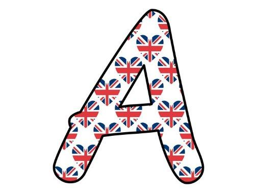 Printable display bulletin letters numbers and more: Union Jack UK Royal Wedding