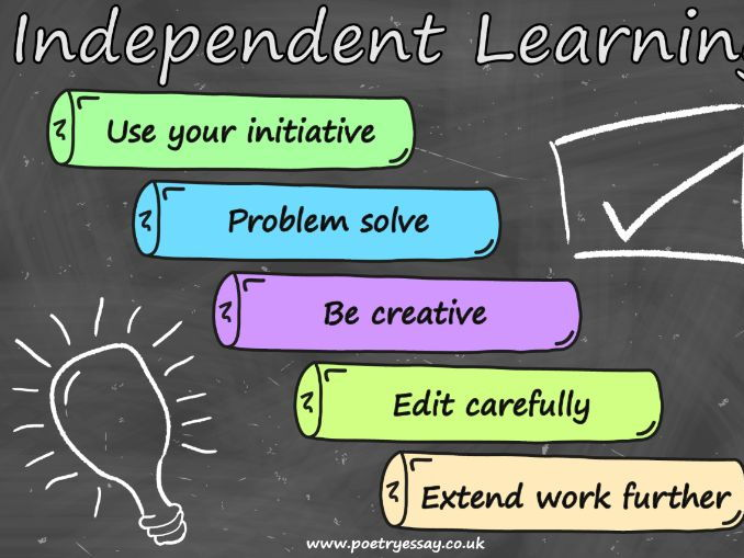 independent learning essay Research questions: 1 what do pupils enjoy about independent learning activities 2 what do pupils dislike about independent learning activities.