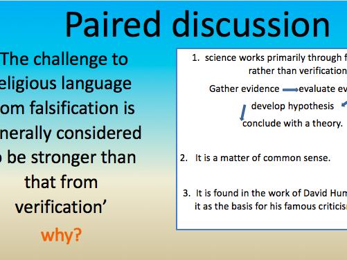 Religious Language - Falsification