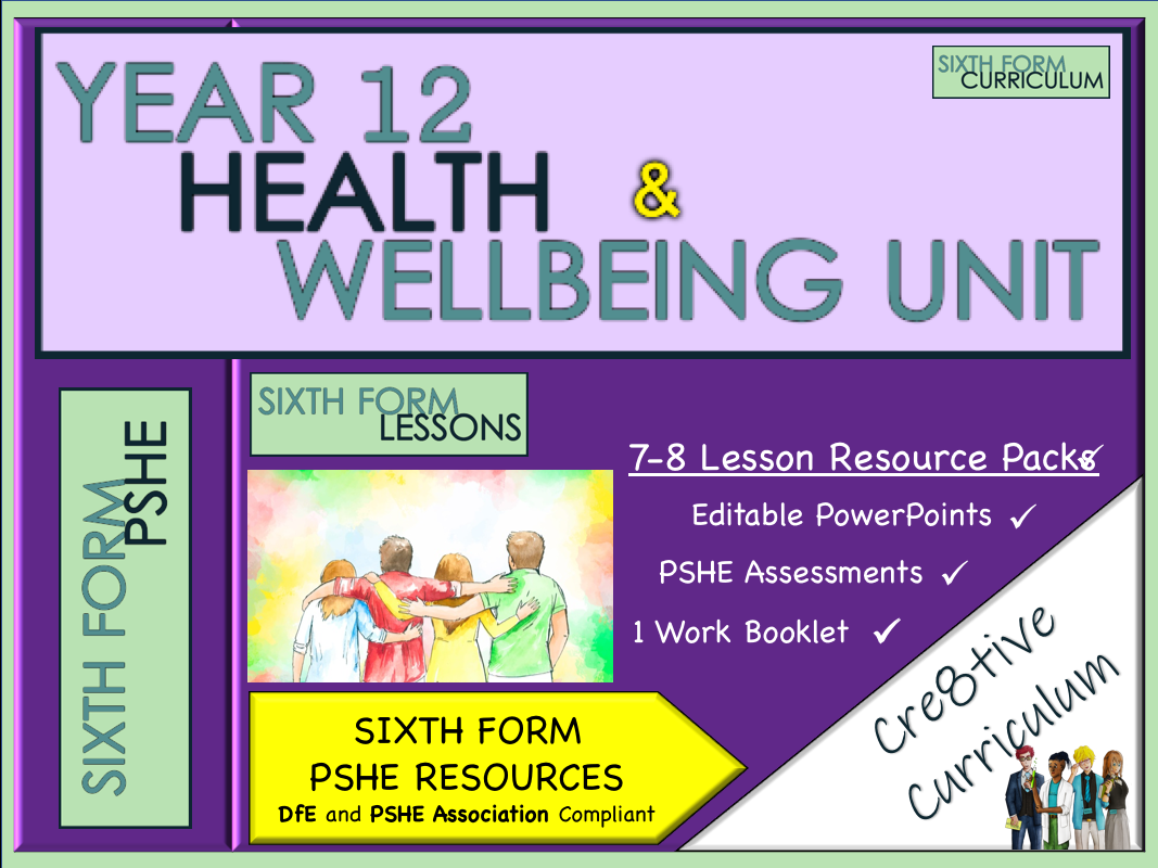 KS5 PSHE Lessons Health & Wellbeing
