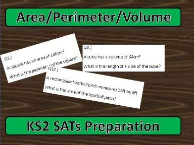 KS2 Maths SATs: Area, Perimeter and Volume