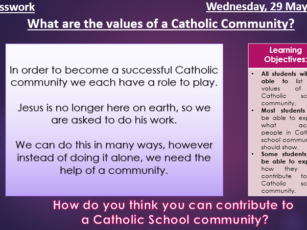 Being part of a Catholic Community