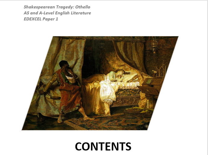 SHAKESPEARE TRAGEDY OTHELLO AS AND A LEVEL NOTES