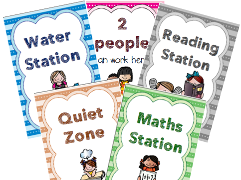 TOLSBY FRAME LABELS (Classroom Stations and Group Numbers)