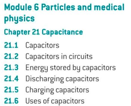 OCR A level Physics: Capacitors