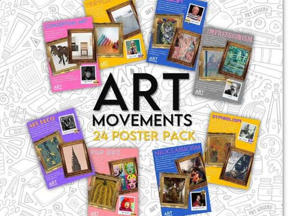 Art Movements- Collection of Posters covering 24 art movements/genres