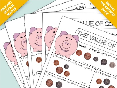 Primary Maths Worksheet Sample: The Value of Money (Coins)