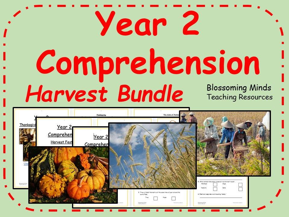 Year 2 harvest comprehension bundle
