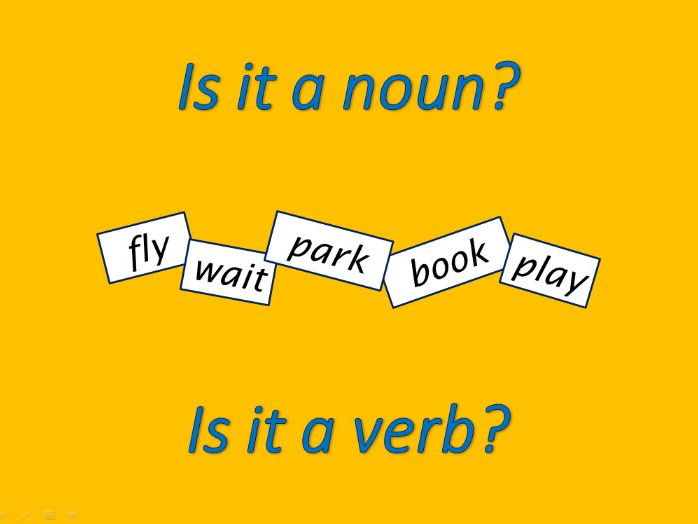 Words which can be nouns and verbs