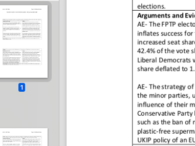 """EDEXCEL A level Politics """"Evaluate the extent to which the UK fulfils a two-party system"""" essay plan"""