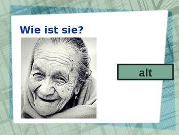 Adjektive (German Adjectives) Opposites PowerPoint