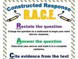 R.A.C.E. Constructed Response Poster