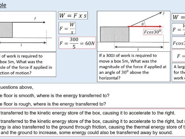 A level Physics (10.1) Work and energy (Work, energy, and power)