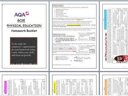 AQA GCSE PE Homework Booklet