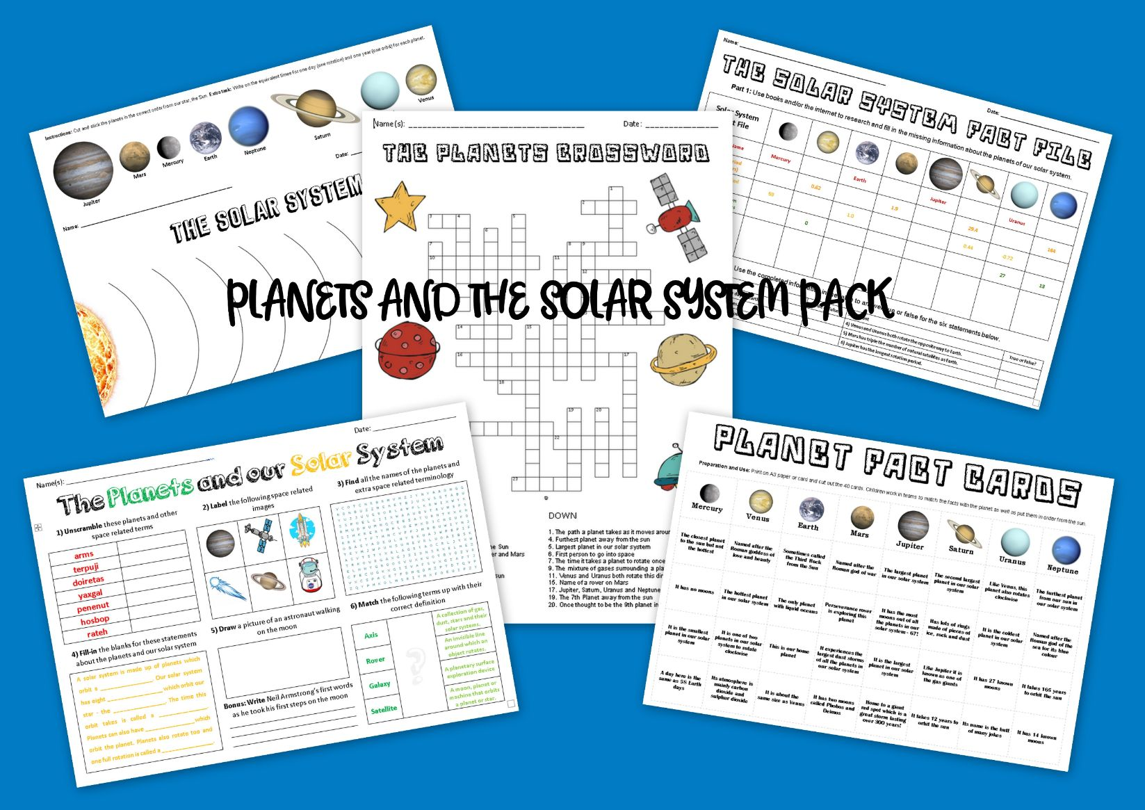 Space, Planets and Solar System Pack