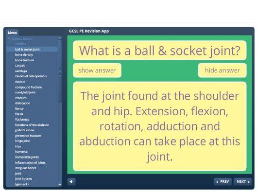 GCSE PE Revision App