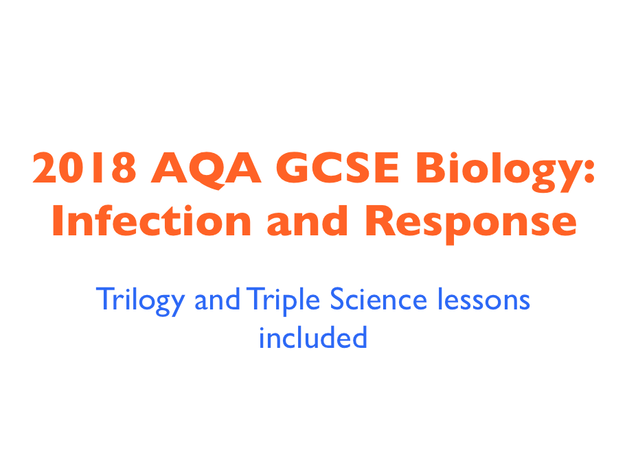 2018 AQA GCSE Biology Unit 1: Infection and Response - Trilogy and Triple Science lessons included