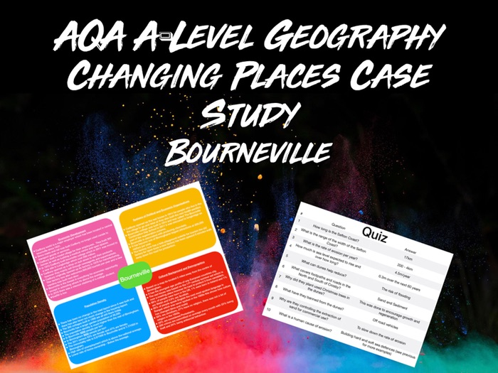 AQA A-Level Geography Changing Places Case Study Bournville With Quiz