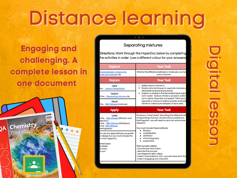 SC1.3 Separating mixtures Distance learning (AQA GCSE Chemistry)