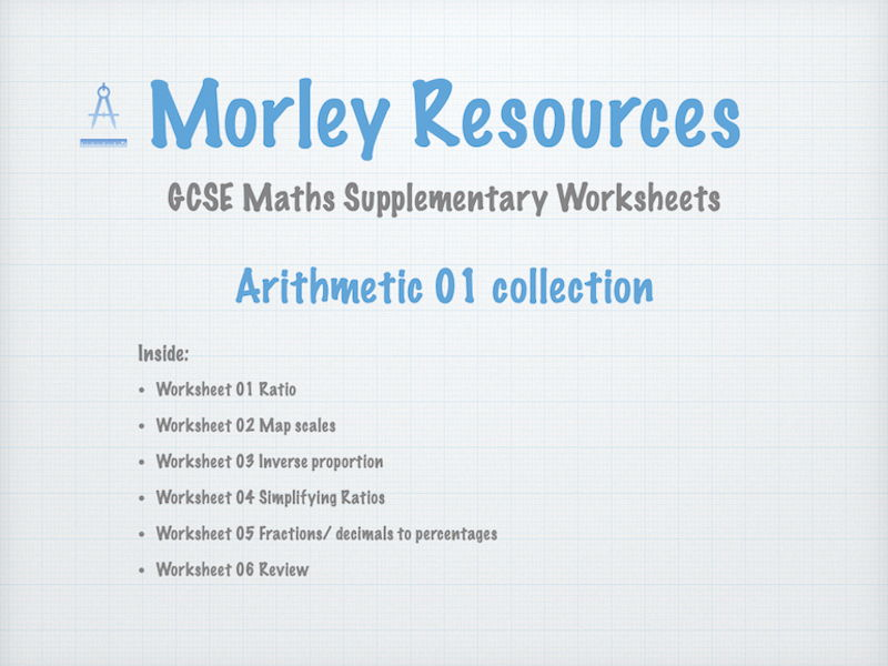 Arithmetic 01 GCSE Maths Collection