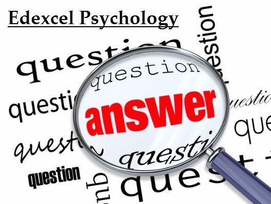 Edexcel New Spec Sample Questions and Answers - Social & Cognitive
