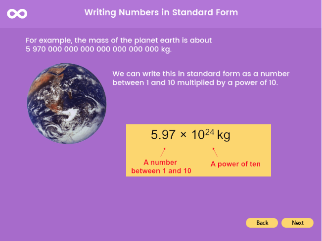 Standard Form - GCSE