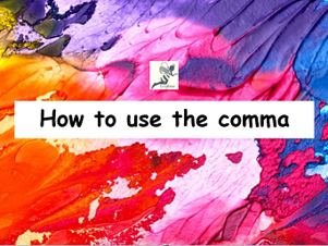 How To Use The Comma Poster